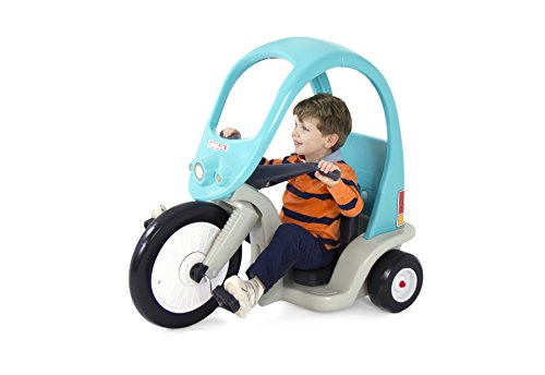(Simplay3 Kids Super Coupe Pedal Powered Ride-On Toy w/ Roof and 3-Position Seat)