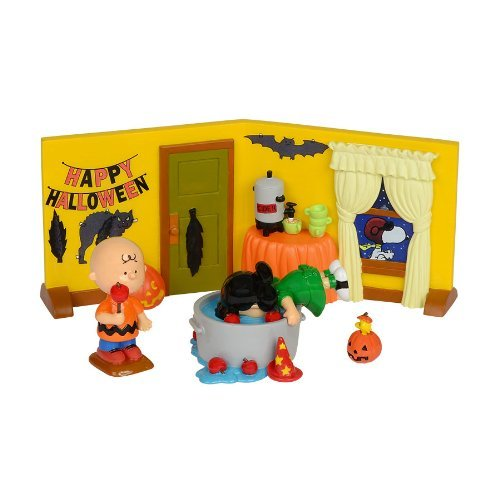 PEANUTS Halloween Party Set Dept 56 Charlie Brown Lucy Snoopy ()