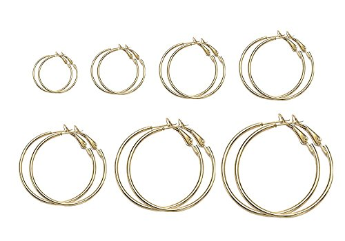 Honbay Pairs Hoops Womens Earrings