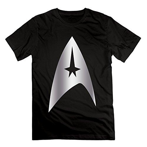 ALIMN Men's Star Trek Platinum Logo T-shirt Black