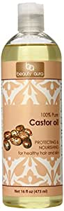 Beauty Aura 100 percent Pure Castor Oil From Best Quality Castor Seeds 16 Fl Oz