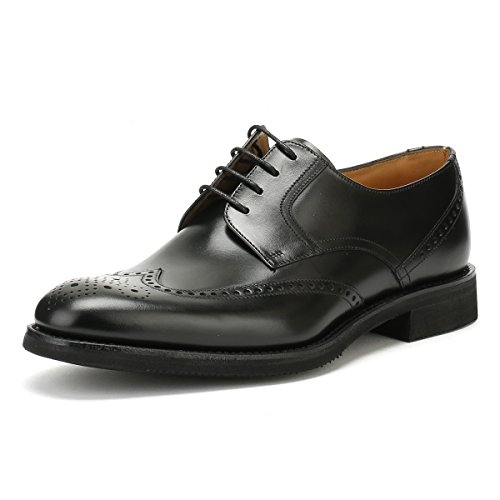 Sirius Loake Noir Chaussures Brogue Hommes rrBxqnT