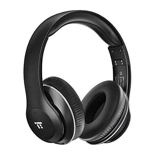 TaoTronics Wireless Headset with Dual 40mm Drivers Over Ear Headphones (3.5mm AUX, On Ear Controls, EQ Bass, 15 Hour Audio Playback)