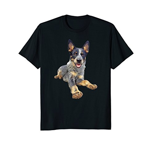 Queensland Heeler Blue Laying Down t-shirt
