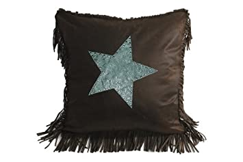 HiEnd Accents Cheyenne Star Western Accent Pillow, Turquoise