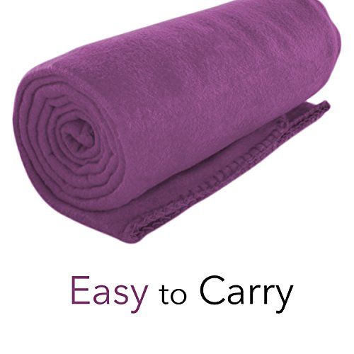 (Imperial Home Cozy 50 X 60 Fleece Throw Blanket -Purple)