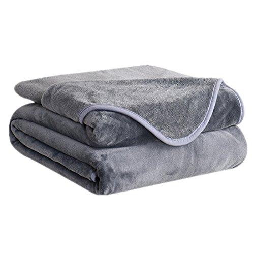 Blanket Fleece Silky (DREAMFLYLIFE Fleece Blanket 380 GSM Anti-Static Super Soft Lightweight Summer Cooling Warm Fuzzy Bed Blanket Couch Blanket (King, Dark Grey))