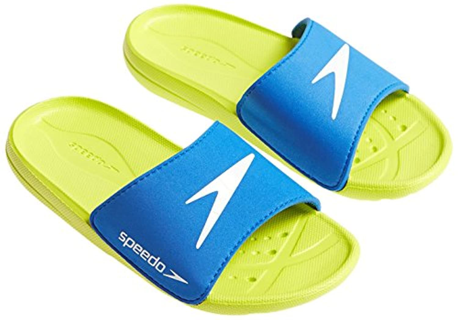 Speedo Atami Core Slide (Box), Bath for Children and Boys Sandals, baby, Atami Core Sld Jm, Blue/Green/White, 1 UK (33 IT)