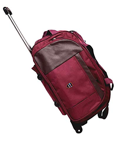 Dejan Bags Dejan 20 inch/50 cm Purple Duffle Trolley Soft Sided Nylon Trolley Travel Tourist Bag 50 Ltrs Purple Color Duffel Strolley Bag  Purple