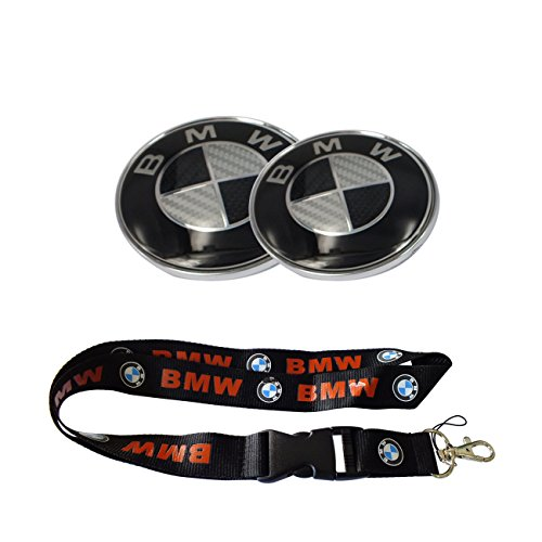 bmw emblem 82mm black - 4