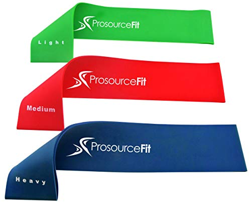 Prosource Fit Loop Resistance Bands Set of 3, 2-inch Wide fo