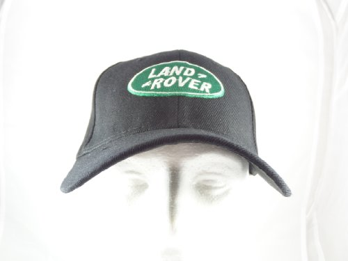 land-rover-baseball-hat-cap-black-adjustable-velcro-back