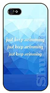 iPhone 5C Just lkeep swimming - black plastic case / Walt Disney And Life Quotes, nemo, finding