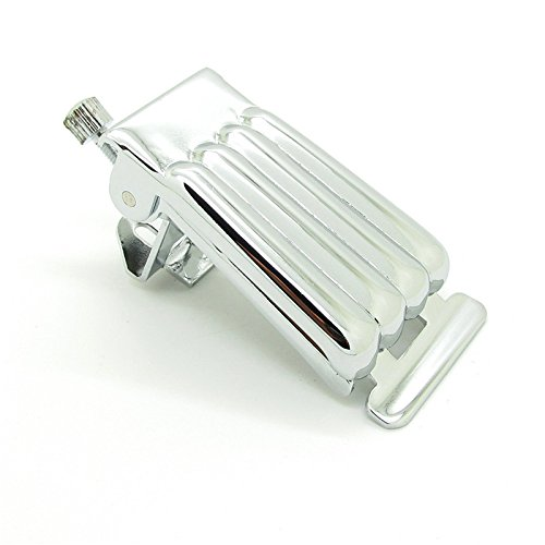 Nickel Chrome Plated Bridge Tailpiece Clamshell Cover for 5 String Banjo