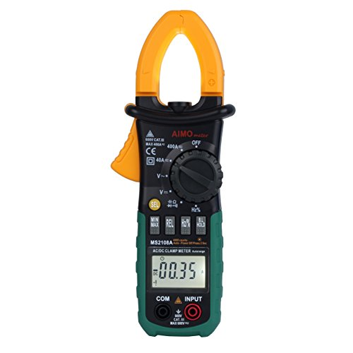 AIMO MS2108A Auto Range Digital Clamp Meter 400 AC DC Current Hz Tester by Aimo