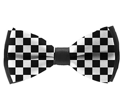 - Pre-Tied Classic Bow Ties, Race Waving Checkered Flag Neck Band Ties Formal Tuxedo Banded Bow Ties For Adults & Children - Suit Accessories, Chrismas New Year