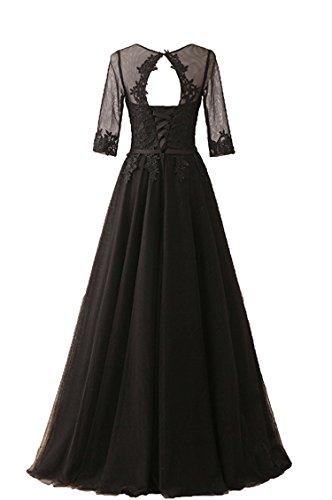 Damen Saphir Tüll Lang Brautjungferkleid Ballkleid Abschlussball Kleid Abendkleider CoutureBridal® Blau OAx4UA