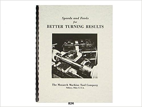 Lathe Speeds & Feeds Metal Turning Manual - Monarch, Atlas, Clausing