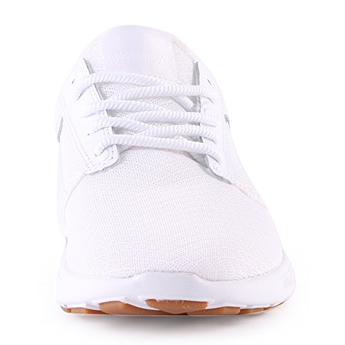 Supra - Zapatillas de deporte para hombre Blanco White White 42,5