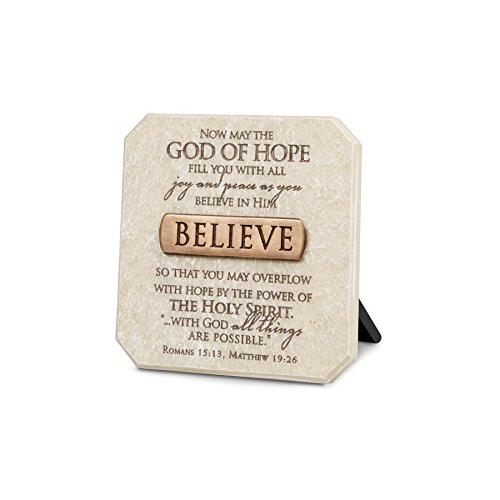 Lighthouse Christian Products Believe Plaque