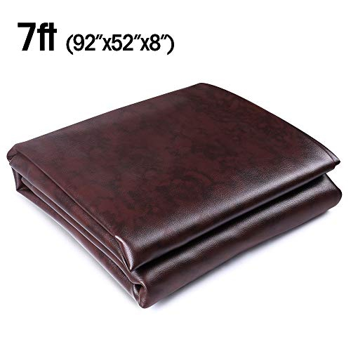 (Boshen 7FT Heavy Duty Fitted Leatherette Billiard Pool Table Cover Furniture)