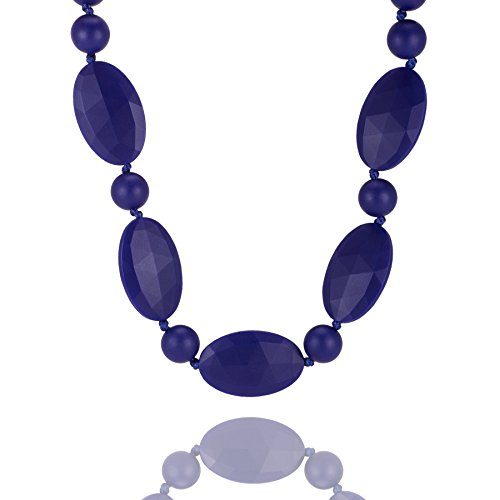 "UPC 816016020167, Teething Necklace, Safe Alternate to Baltic Amber, Wear Tough ""Olivia"" (Sapphire)"