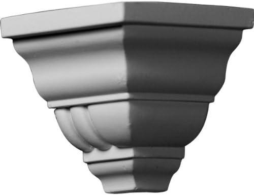 Ekena Millwork MOC02X03GO-CASE-4 Outside Corner for Moulding MLD03X02X04GO (4-Pack) 2 3/4P x 3 1/8H White