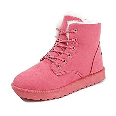Amazon.com | Classic Women Winter Boots Suede Ankle Snow
