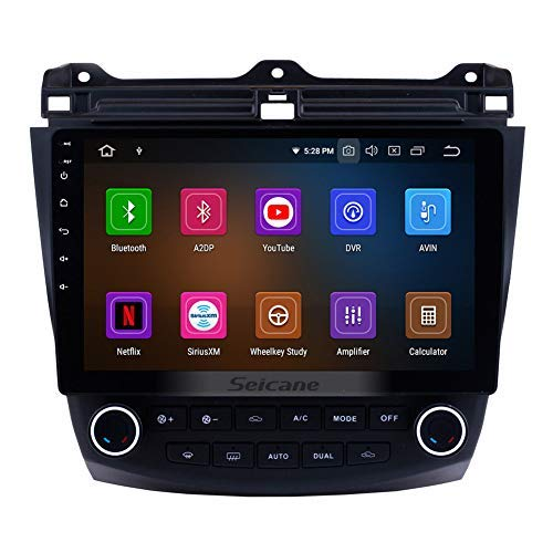 10.1 inch Android 9.0 Touchscreen GPS Navi Stereo for Honda Accord 7 2003-2007 with WiFi Bluetooth Music USB AUX Support DAB (8-Core,4G+32G) ()