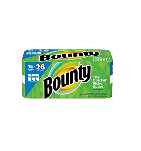 Price comparison product image Bounty Select-a-Size Paper Towels,  Jumbo Rolls,  15 Count (15 Jumbo Rolls = 26 Regular Rolls)