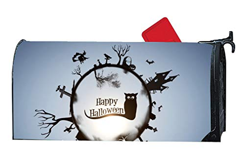 MALBO Happy Halloween Wallpaper Personalized Mailbox Cover Magnetic Fits Standard-Sized -