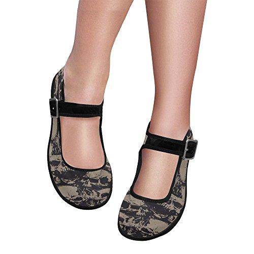 InterestPrint Casual InterestPrint Womens Jane Shoes Comfort Flats Walking Mary Womens 7wPqFv5xx
