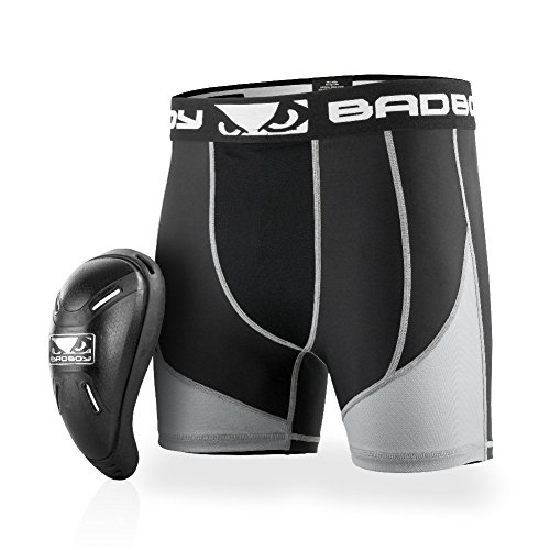BAD BOY Full Guard Compression Short & Cup - Large