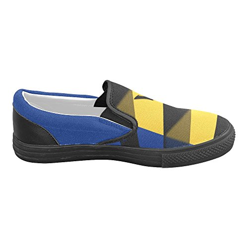 Interestprint Classic De Vlag Van De Slip-on Canvasschoenen Van Barbados
