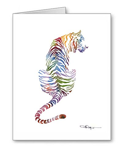 (Tiger - Set of 10 Note Cards With)
