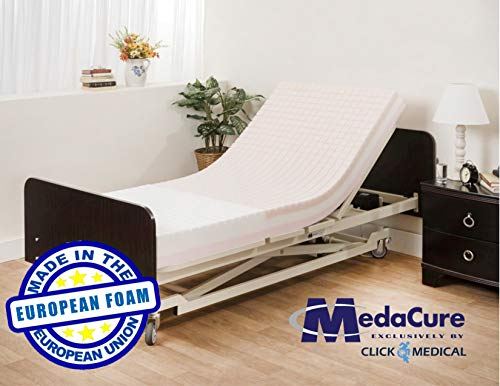 "Pressure Redistribution Foam Hospital Bed Mattress - 3 Layered Visco Elastic Memory Foam - 80"" x 36"" x 6"" - Hospital Grade Nylon Cover Included - by Medacure"