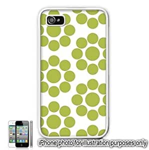 Lime Green Circle Dots Pattern For Apple Iphone 4/4S Case Cover Skin White