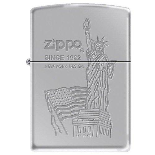 Zippo 23491 Flag & Statue of Liberty ()
