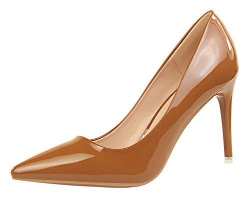 T&Mates Womens Fashion Pointed Toe Pumps High Heel Stiletto Sexy Slip On Dress Pumps Basic Shoes (5.5 B(M) (Dye Ultra Lite Front)
