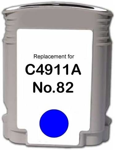 510 500PS etc; Cyan Ink: RC4911A Replacement for HP C4911AN 82 Cyan; Models: DesignJet 500 MG Re-Manufactured Inkjet Cartridges