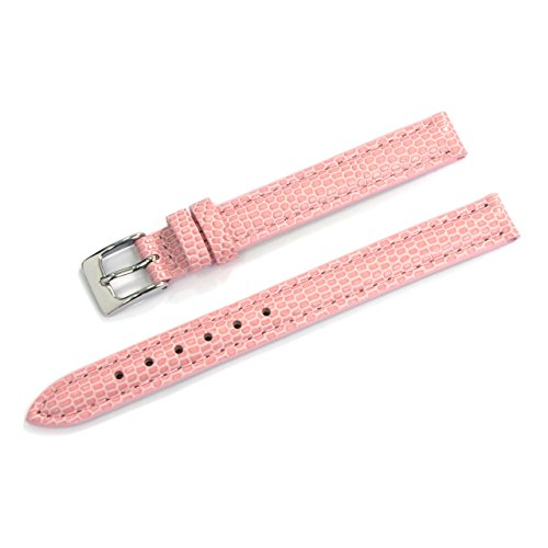 CASSIS Donna Lizard Calf Genuine Lizard Embossed Calf Leather Watch Strap 10mm Pastel Pink with Tool D0000273287010M ()