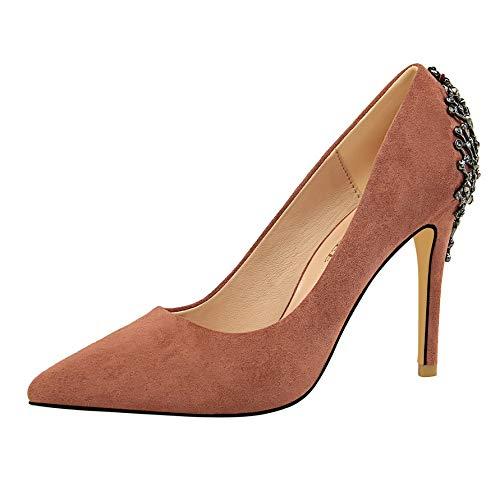 FLYRCX Frühjahr und Herbst Wildleder Stiletto Heels Heels Heels Mode Strass Spitzen flachen Schuhe europäischen Single Schuhe B07KSZZFJP Tanzschuhe Sehr gelobt und vom Publikum der Verbraucher geschätzt fb61ac