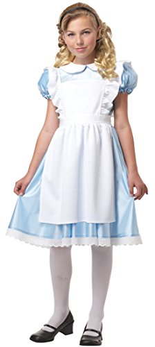 Girl's Alice in Wonderland Costume by California Costumes - Size 10 / 12 (Alice In Wonderland Childrens Costumes)