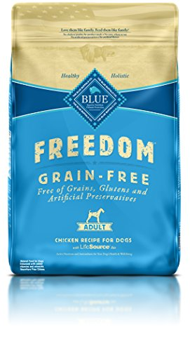 Blue Buffalo Freedom Grain-Free Recipe for Dog, Adult Chicken Recipe Grain Free, 24 lb
