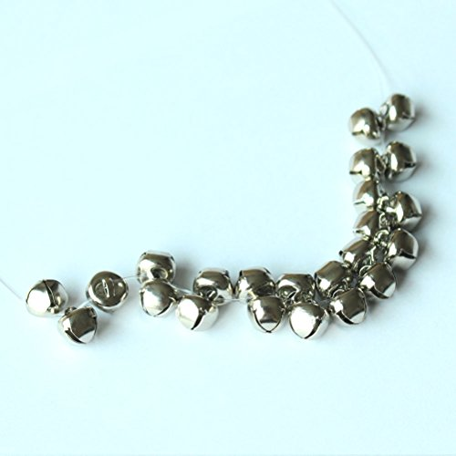 160 PCS Silver Christmas Jingle Bells Mini Small Bells Bulk for Festival & Party Decorations/ DIY Craft, 4 Sizes (10mm, 15mm, 20mm, 25mm)