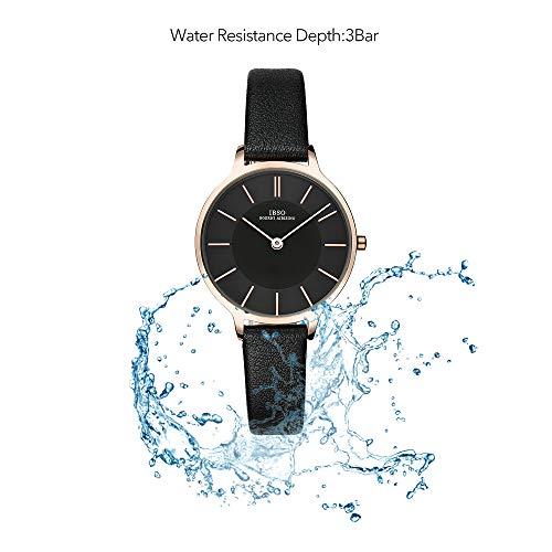 49de41725 ... IBSO Women Fashion Simple Watch Ultra-Thin Retro Quartz Analog Leather  Strap Ladies Wristwatch ...
