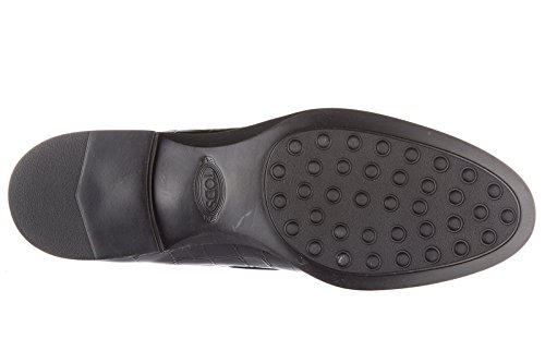 Tod's Damen Leder Mokassins Slipper Gummi xl nappine Schwarz
