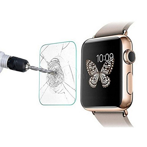 Price comparison product image GBSELL Tempered Glass Screen Protector Guard Film For Apple Watch Series 3 42mm/38mm (42mm, Clear)
