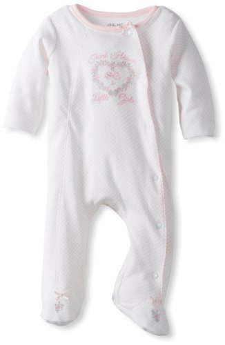 Little Me Baby Girl Newborn Thank Heaven Footie, Pink, Preemie (Preemie Pajamas)