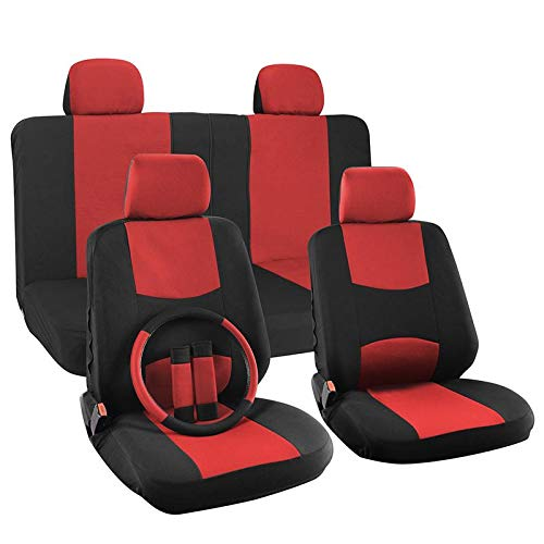 Blazer Seats Chevrolet - Motorup America Auto Seat Cover Full Set Red & Black - Fits Select Vehicles Car Truck Van SUV